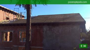 Labor de instalación de doble rastrel para tejado de pizarra 50x25. Pizarra Sierra Madrid. Tejado de pizarra en Madrid.
