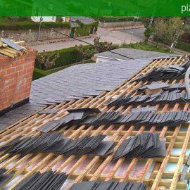 Pizarra para tejados y cubiertas colocaci n de pizarra natural - Cubiertas de pizarra en madrid ...