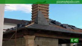 Colocación de pizarra en tejado en Palencia. E 40 Pizarra para tejado de montaña.