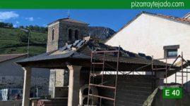 Colocación de pizarra en tejado en Palencia. Pizarra de León para tejado de montaña.