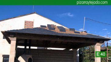 Colocación pizarra Palencia. Pizarra negra para tejado de montaña.