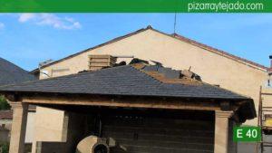 Cubierta de pizarra en Palencia. E40 pizarra montaña. Cubierta pizarra Palencia.