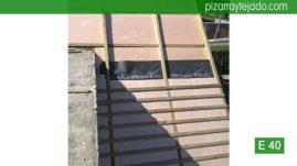 Detalle de doble rastrel para colocación pizarra en cubierta Madrid. Cerceda (Moralzarzal).