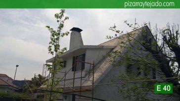 Inicio de las labores para colocación de pizarra en Madrid. Cerceda (Moralzarzal).