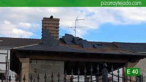 Precioso tejado pizarra Palencia. E 40 Pizarra para tejado de montaña.