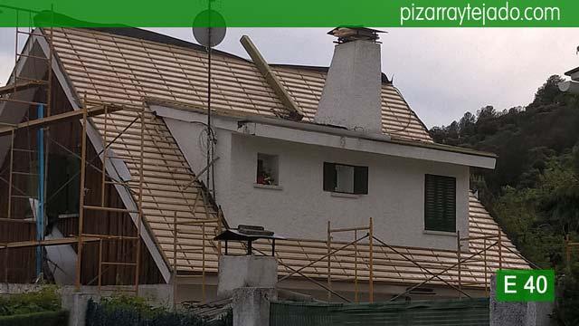 Colocaci n de rastrelado doble pizarra para tejados - Cubiertas de pizarra en madrid ...