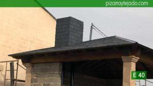 Remates de pizarra en tejado Palencia. Pizarra de calidad para tejado de montaña.