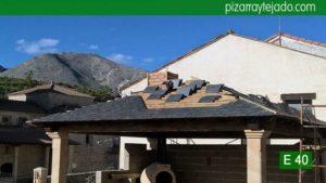 Tejados y cubiertas de pizarra en Palencia. Pizarra para tejado de montaña.