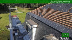 Construcción de tejado y fachada con pizarra en Bélgica. Construcción pizarra.