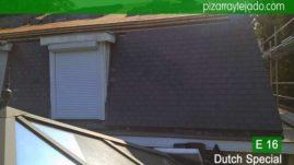 Construcción tejados de pizarra natural en Flandes Bélgica. Pizarra del Bierzo. Tejados pizarra natural.