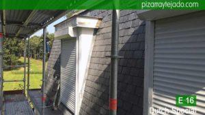 Obra de retirada de teja por pizarra primera calidad en Flandes. Cambiar pizarra tejado.