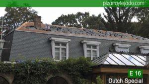 Pizarra para cubierta de tejado. La pizarra resulta muy apropiada para climas fríos, ya que resiste fácilmente la acción del frío, condiciones ambientales extremas y por supuesto el hielo.