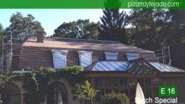 Rastrel en tejado y fachada para colocación de pizarra. Leien België. Rastrelado para colocación de pizarra natural E16 Dutch Special. Leien dak plaatsen België.