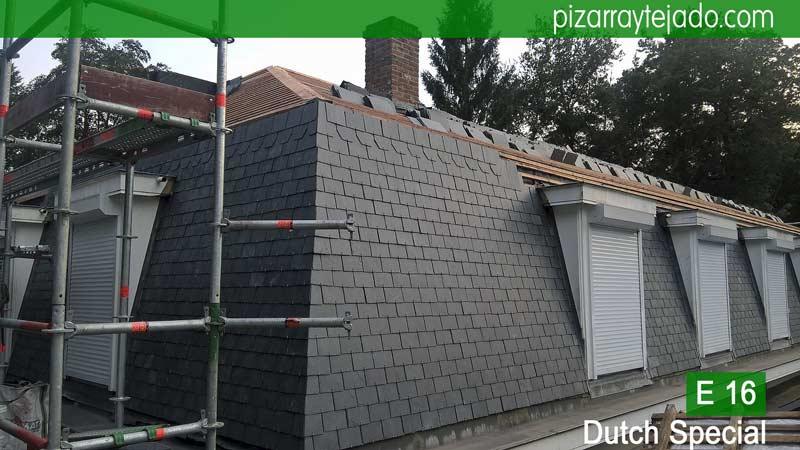 Preciosas fachada de pizarra con pizarra de tejado y con - Tejado de pizarra ...