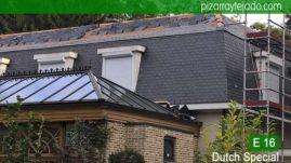 Venta y colocación pizarra en cubierta situada en Flandes België. Colocación pizarra en cubierta.