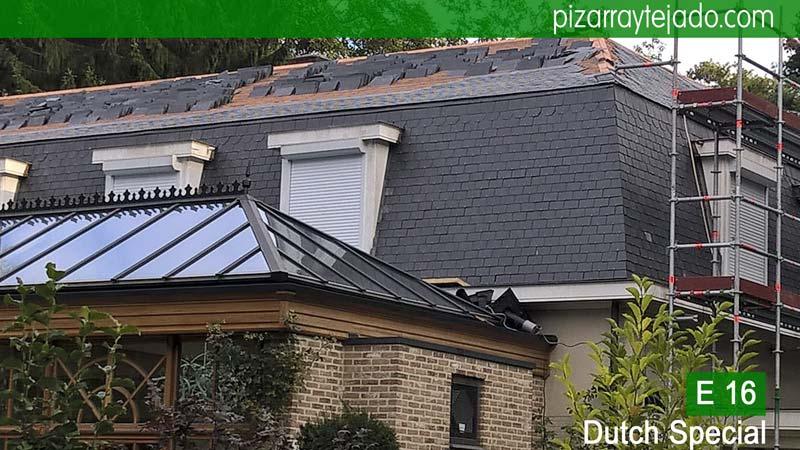 Preciosas fachada de pizarra con pizarra de tejado y con placa - Cubierta de pizarra ...