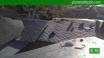 Colocación de pizarra en El Bierzo. Tejados de pizarra en el Bierzo. Pizarra tejado Bierzo.