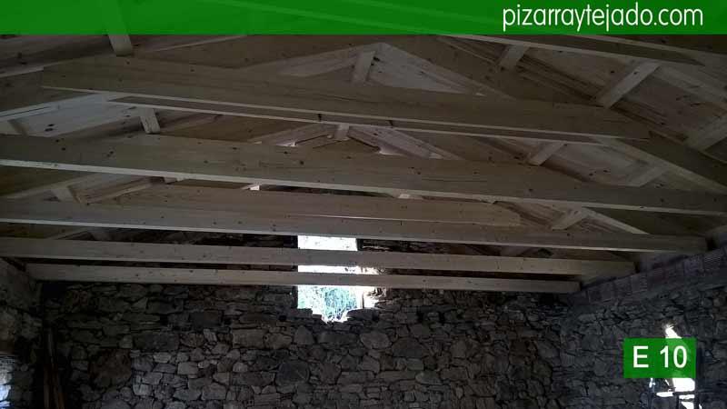 Empresa de construcción de tejados de estructura madera en León.Tejados madera León.