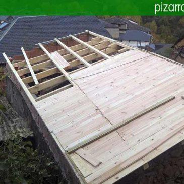 Blog pizarra natural de le n espa a colocaci n de tejados - Estructuras de madera para tejados ...