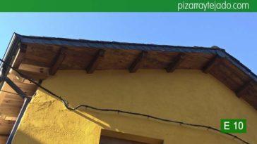 Bonitos remates de alero en tejado de pizarra. Rehabilitación integral Ponferrada.
