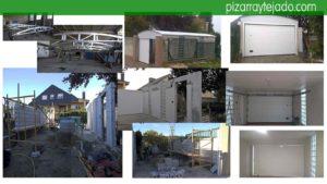 Fases de construcción de cochera con doble puerta. Tejados y reformas Bierzo.