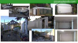 Trabajos de construcción de cochera. Astorga reformas y obras.