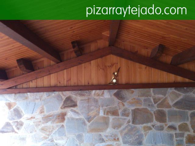 Cubierta de madera y pizarra en ponferrada cubiertas y - Cubiertas de madera para tejados ...