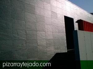 Placa de pizarra natural para fachadas. Fachadas pizarra natural.
