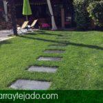Placa de pizarra para suelos, exteriores y jardines. Pizarra jardín. Pizarra para suelos de exterior y jardinería. Pizarra jardinería.