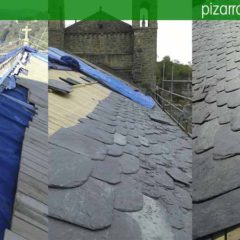 Obras de tejados de pizarra.