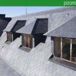 Preciosas mansardas en tejado rehabilitado de pizarra natural. Guadarrama pizarra.