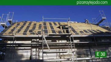 Rehabilitación de tejado de 100 años en Madrid con pizarra de calidad exportación. Madrid tejado pizarra.