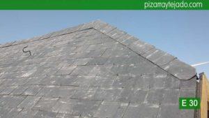 Rehabilitación integral de tejado de pizarra. Pizarra Guadarrama.