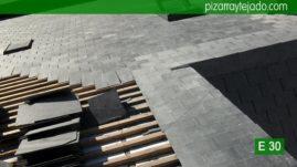 Colocación de pizarra y reparación de tejados de pizarra en León.