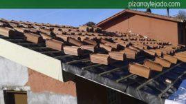 Distribución de la teja cerámica. Detalle de montaje de la membrana entre rastreles verticales y horizontales. Asturias tejados.