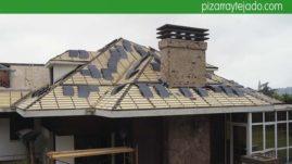 Ejecución de cubierta de pizarra con aislamiento térmico y membrana impermeable y transpirable. Oviedo pizarra.
