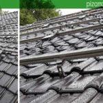 Instalación de paneles solares en tejado en Turnhout Bélgica. Teja negra.