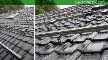 Instalación de paneles solares en tejado en Turnhout Bélgica. Tejado teja negra.