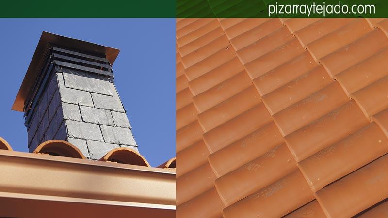 Preciosa cubierta de teja cer mica con velux para su vivienda - Tejado de pizarra ...