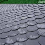 Colocar pizarra tejado. Tejados pizarra colocación. Pizarra (calidad exportación) rombo colocada con gancho de acero inoxidable.
