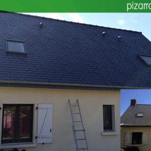 Cómo eliminar óxido de pizarra en tejados y cubiertas.