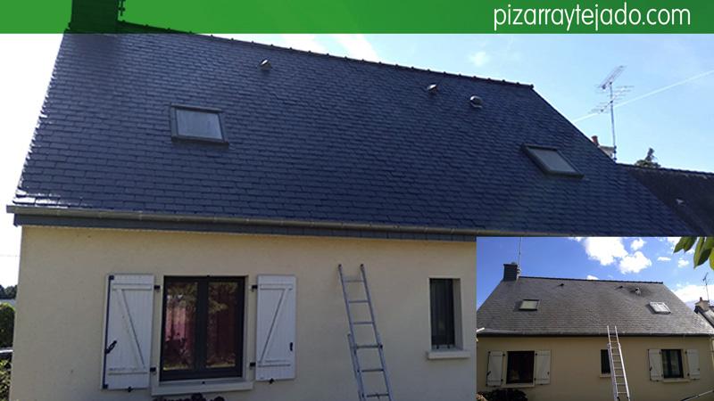C mo eliminar xido de pizarra en tejados y cubiertas - Tejados y cubiertas ...