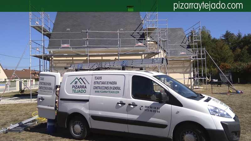 Empresa especializada en retirada de óxido de la pizarra de tejados.